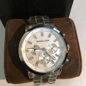Michael Kors Women's Clear Band Watch